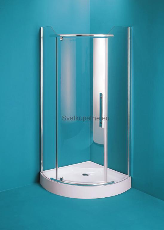 Štvťkruhový kút OLSEN SPA Malaga 90 x 90 cm