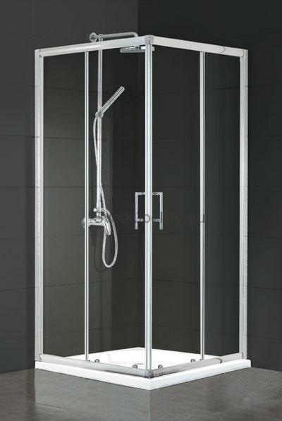 Sprchovací kút Motril 80 x 80 x 195 cm, bez vaničky, číre sklo (s